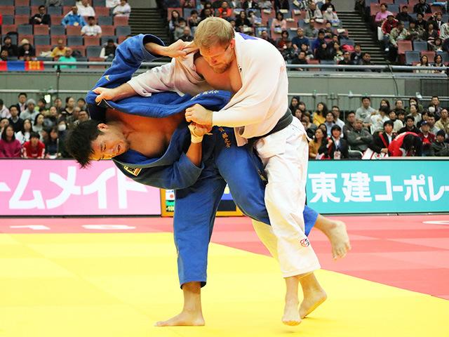 男子100kg級 3回戦 羽賀龍之介 vs J.DVARBY