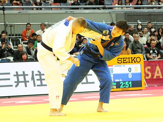 男子100kg級 準々決勝戦 飯田健太郎 vs M.KORREL