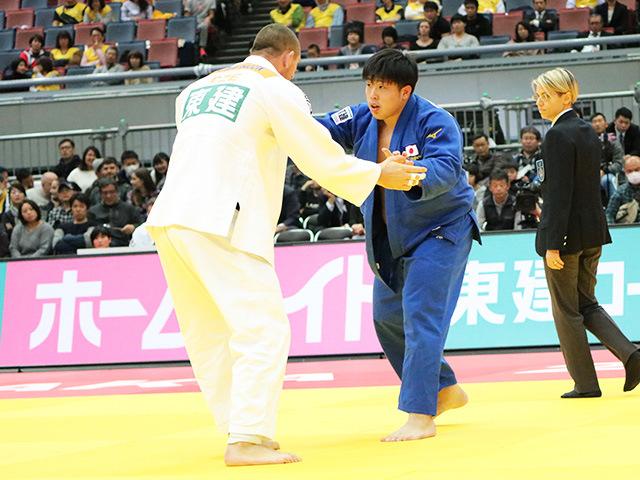 男子100kg超級 準決勝戦 影浦心 vs L.KRPALEK�A