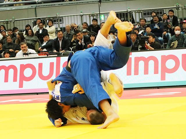 男子100kg超級 準決勝戦 影浦心 vs L.KRPALEK�B