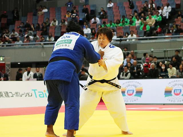 女子78kg超級 準決勝戦 稲森奈見 vs I.ORTIZ