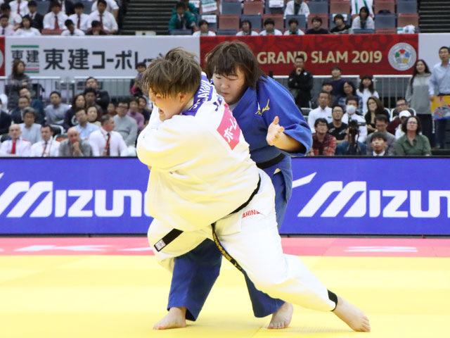 女子78kg超級 朝比奈沙羅 vs 冨田若春