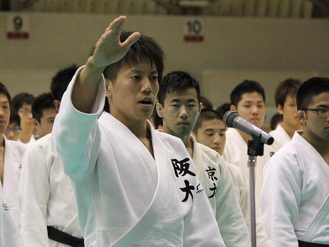 選手宣誓 上野将嗣選手(大阪大学)