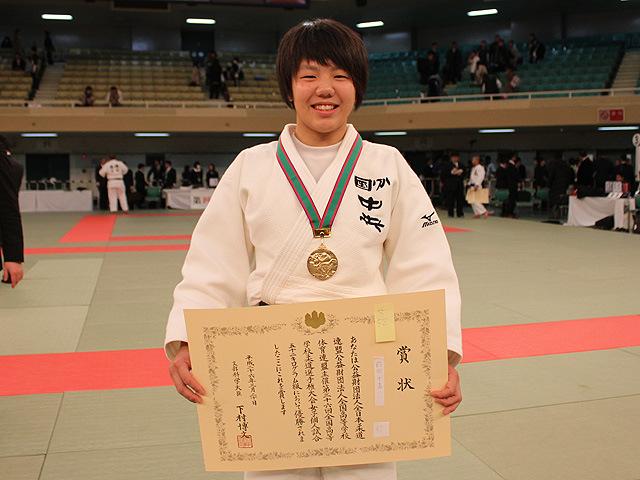 女子52kg級優勝前田 千島