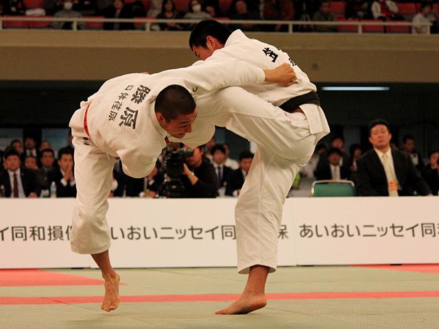 第37回全国高等学校柔道選手権大会 男子81kg級 決勝 藤原崇太郎 vs 笠原大雅�A