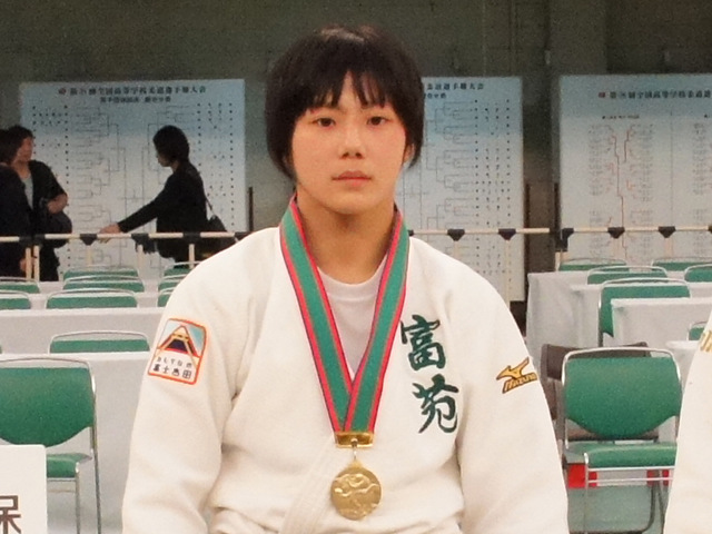女子57kg級優勝 舟久保遥香
