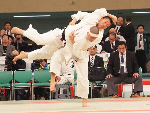 第38回全国高等学校柔道選手権大会 男子81kg級 準決勝 藤原崇太郎 vs 焼谷風太