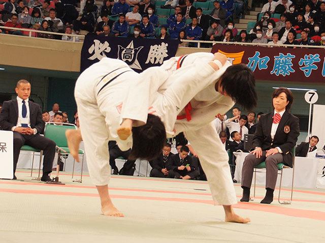 女子63kg級決勝 三浦裕香理vs田中志歩�D