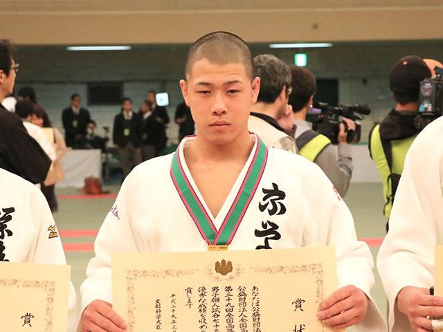 男子73kg級優勝勝部翔