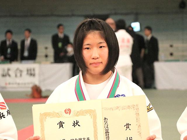 女子57kg級優勝香川瑞希