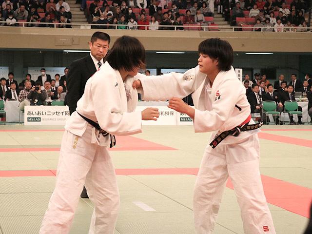 女子52kg級準決勝阿部詩vs三浦百香�@