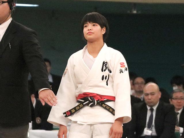 女子52kg級決勝阿部詩vs児玉風香�@