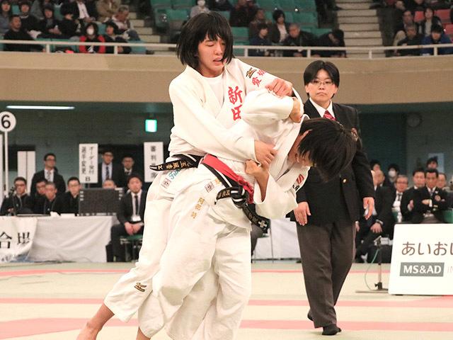 女子52kg級決勝阿部詩vs児玉風香�A