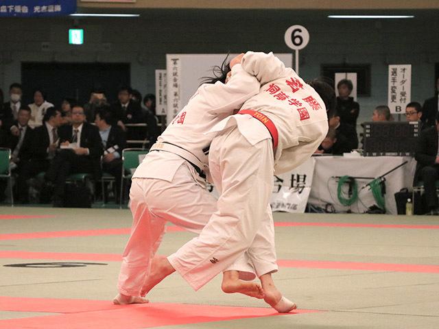女子57kg級準決勝若藤唯vs古賀ひより�A