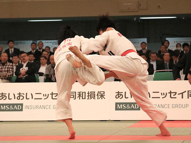 女子57kg級決勝若藤唯vs香川瑞希�B