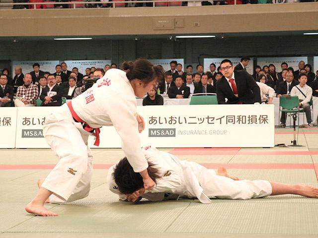 女子63kg級決勝浦明澄vs結城彩乃�A