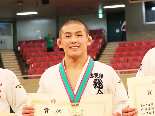 男子66kg級優勝<br>唯野己哲