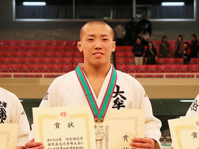 男子73kg級優勝<br>田中裕大