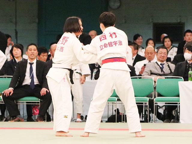 女子48kg級4回戦<br>西村瑞穂vs��野麻衣