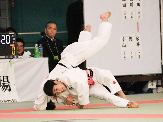 女子52kg級4回戦<br>川田歩実vs永井風歌