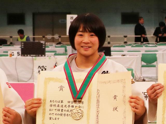 女子52kg級優勝<br>白石響