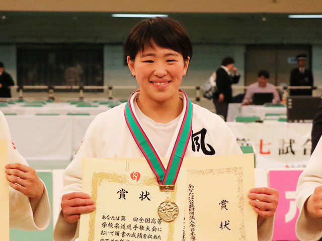 女子63kg級優勝<br>畑田暁菜