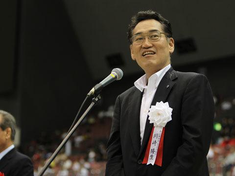川崎隆生大会名誉会長挨拶