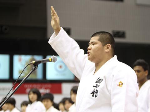 選手宣誓 国士舘高等学校 吉良勝弥