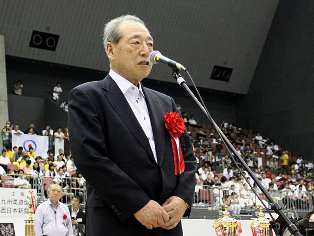 九州柔道協会藤田弘明会長挨拶