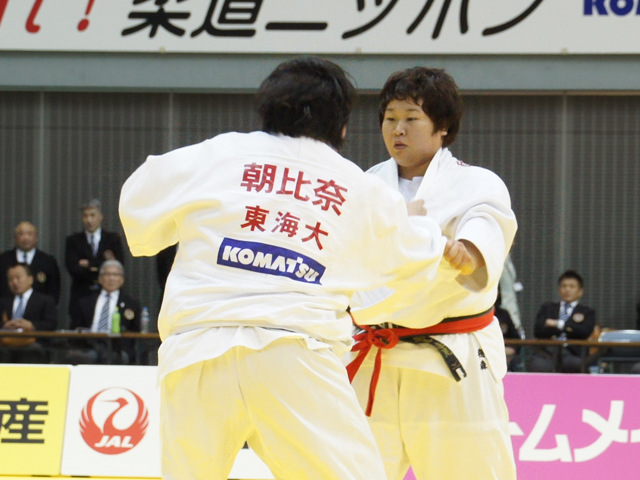 女子78kg超級 決勝戦 朝比奈沙羅 vs 稲森奈見�@