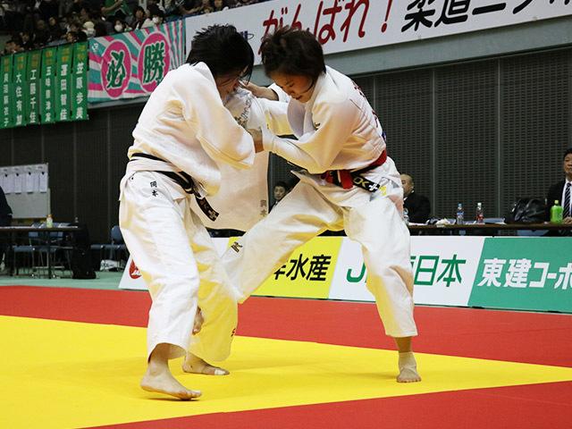 女子48kg級 敗者復活戦 遠藤宏美 vs 岡本理帆