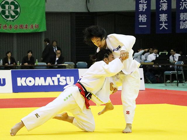 女子48kg級 決勝戦 渡名喜風南 vs 森崎由理江�A