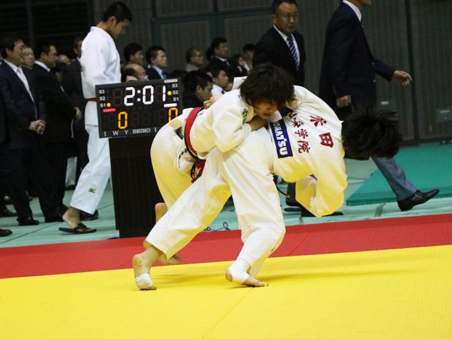 女子52kg級 2回戦 志々目愛 vs 米田愛理子