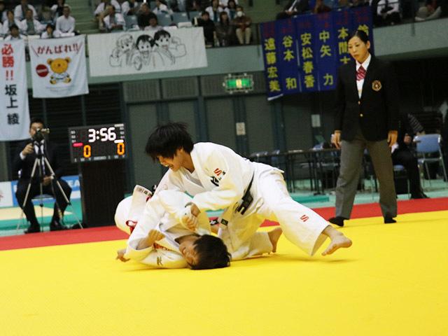 女子52kg級 3位決定戦 前田千島 vs 阿部詩