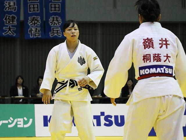 女子63kg級 決勝戦 能智亜衣美 vs 嶺井美穂�@