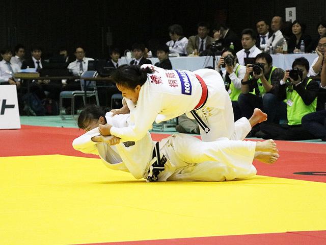 女子63kg級 決勝戦 能智亜衣美 vs 嶺井美穂�A