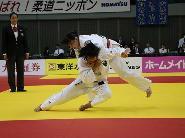 女子70kg級 新添左季 vs 田中志歩