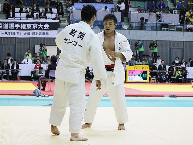男子73kg級 準々決勝戦 立川新 vs 岩渕侑生