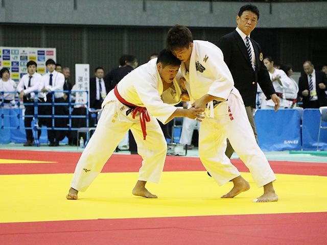 男子73kg級 準決勝戦 立川新 vs 石郷岡秀征