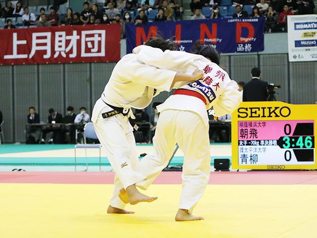 女子70kg級 準決勝戦 朝飛七海 vs 青柳麗美