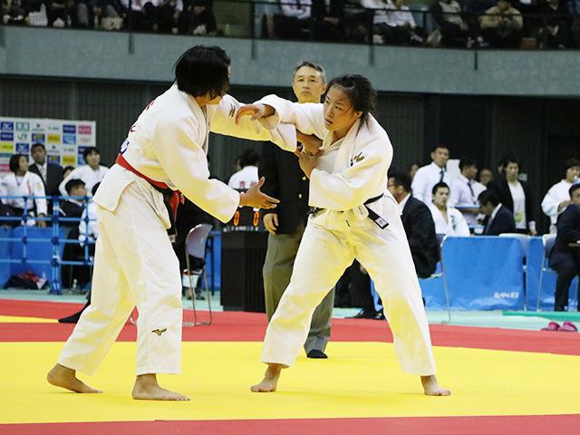 女子70kg級 準決勝戦 田中志歩 vs 嶺井美穂