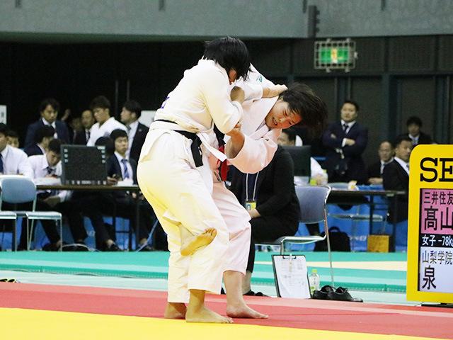 女子78kg級 準決勝戦 ��山莉加 vs 泉真生