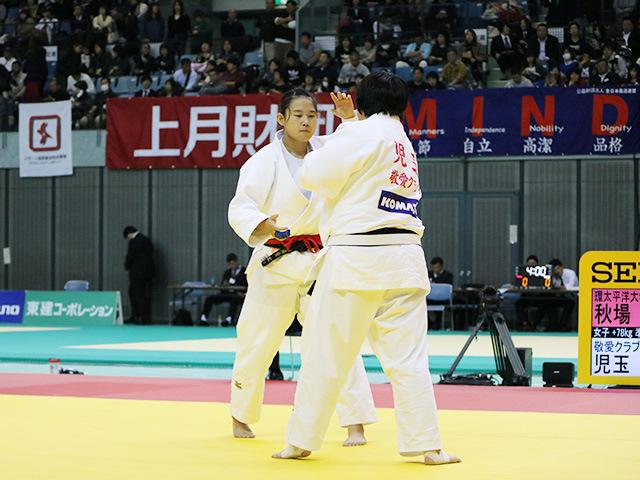 女子78kg超級 準決勝戦 秋場麻優 vs 児玉ひかる�@