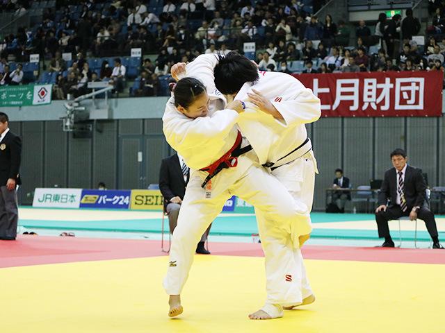 女子78kg超級 準決勝戦 秋場麻優 vs 児玉ひかる�A