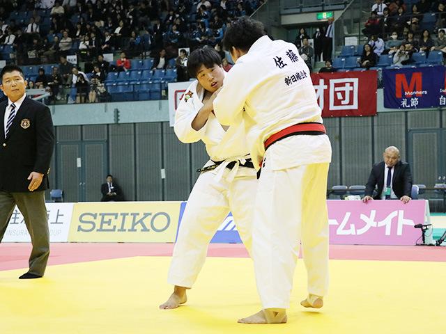 男子100kg超級 佐藤和哉 vs 影浦心
