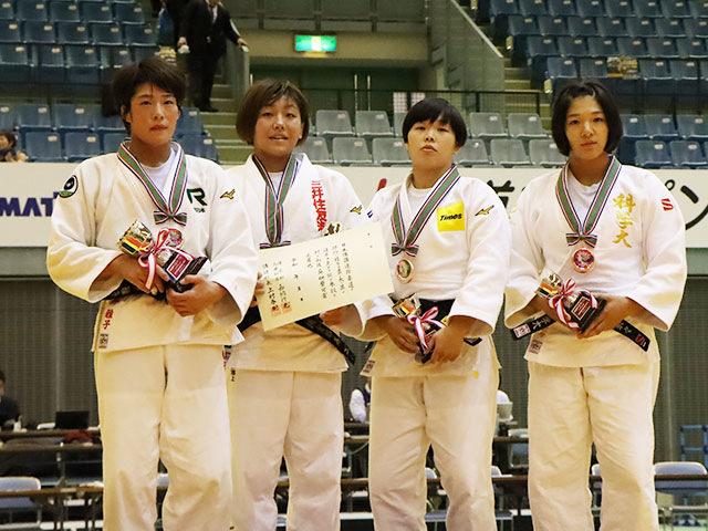 女子63kg級 表彰式