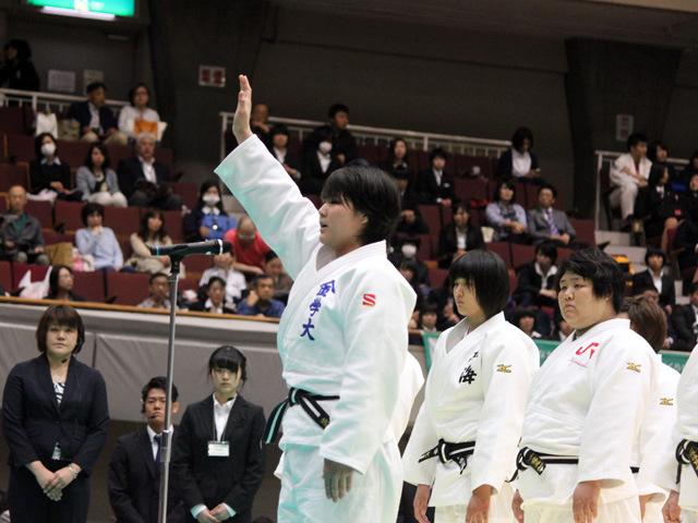 選手宣誓 橋高朱里選手