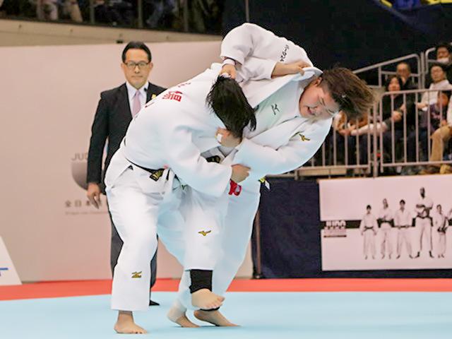 2019年選抜体重別 女子78kg超級 準決勝 朝比奈沙羅 vs 秋場麻優