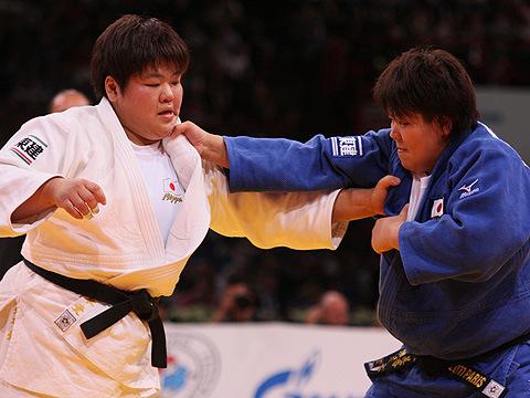 女子78kg超級3位決定戦 杉本 美香-田知本 愛