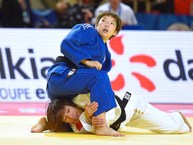 女子個人48kg級準々決勝 近藤 亜美選手 vs B.K.JEONG選手�C